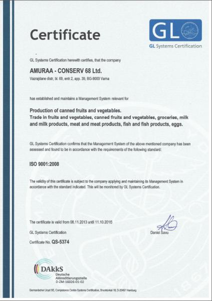 Certificate_ISO_9001_Amuraa-Conserv_68_Ltd_QS-5374_EN